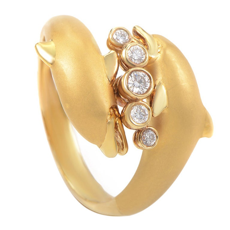 y gold dolphin ring at 1stdibs
