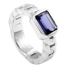 Chanel Iolite White Gold Ring
