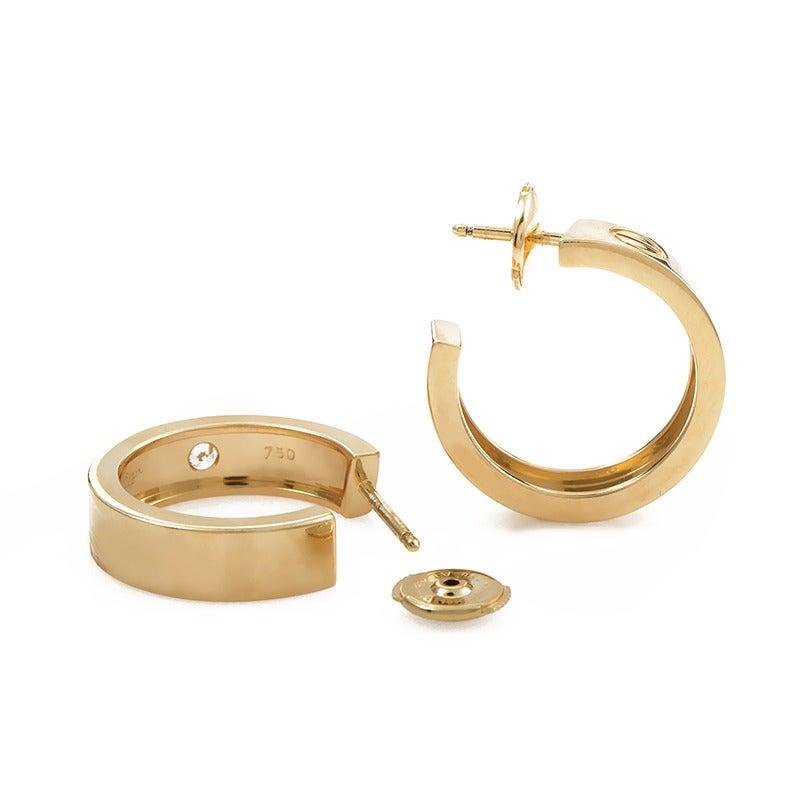 Cartier Diamond Gold LOVE Hoop Earrings 2