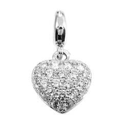 Cartier Diamond Pave Gold Heart Charm