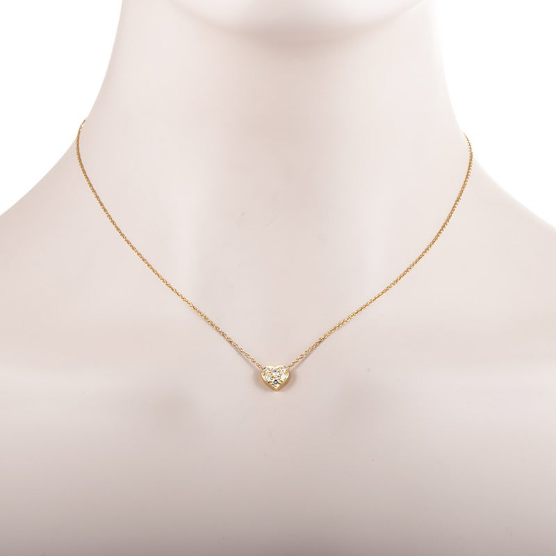 Tiffany and co diamond gold heart pendant necklace at 1stdibs tiffany co diamond gold heart pendant necklace 2 aloadofball Image collections