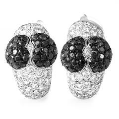 Chopard Multi-Color Diamonds Gold Heart Clip-On Earrings