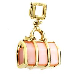Louis Vuitton Yellow Gold Rose Quartz Bag Charm