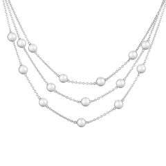 Mikimoto Three Strand Pearl Gold Necklace