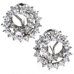 Tiffany & Co. Angela Cummings Diamond Platinum Earrings