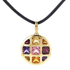 Cartier Pasha Multi-Gemstone Gold Pendant and Cord Necklace