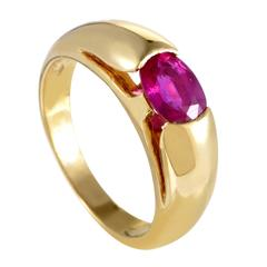 Bulgari Yellow Gold Ruby Band Ring