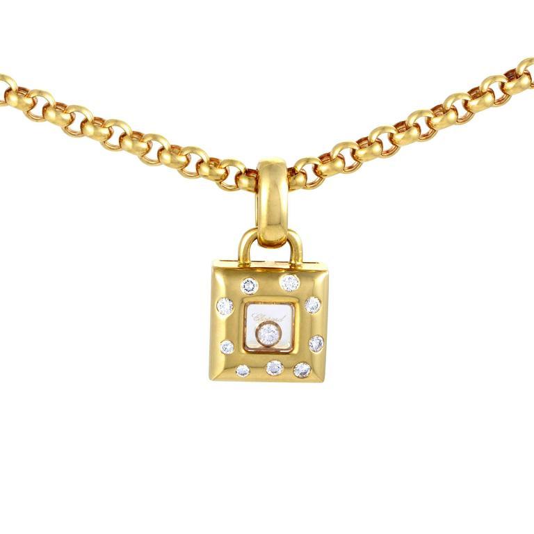 Chopard happy diamonds yellow gold square pendant necklace for chopard happy diamonds yellow gold square pendant necklace 1 aloadofball Image collections