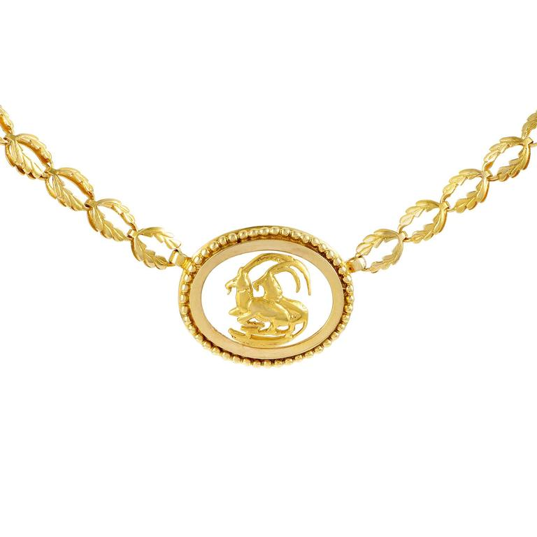 Ilias lalaounis yellow gold frosted glass capricorn pendant ilias lalaounis yellow gold frosted glass capricorn pendant necklace for sale aloadofball Choice Image