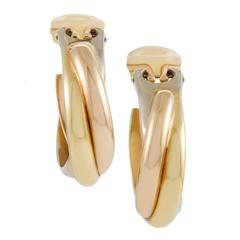 Cartier Trinity Rose White and Yellow Gold Clip-on Earrings