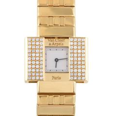 Van Cleef & Arpels Ladies Domino Yellow Gold 39 Diamond quartz Wristwatch