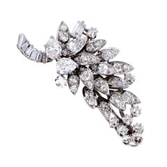 David Webb Diamond and Platinum Cluster Brooch