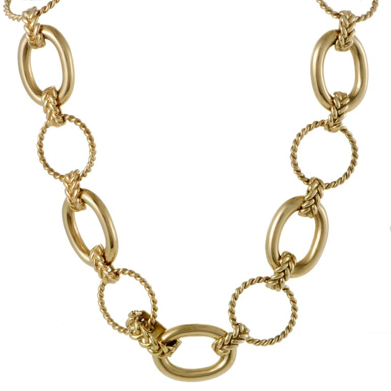 Carter Yellow Gold Large Link Necklace