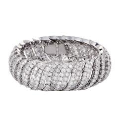 Full Diamond Pave Platinum Bracelet