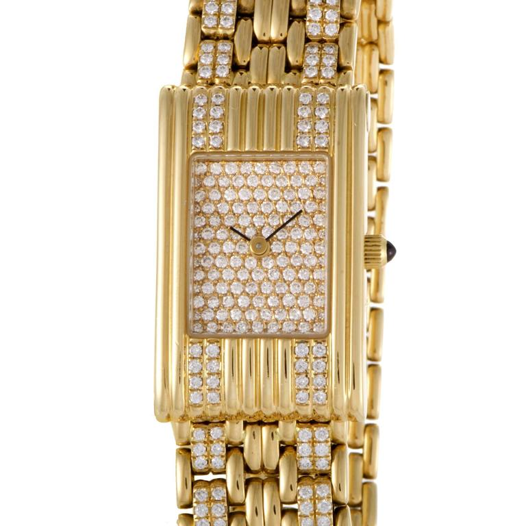 Boucheron Ladies Yellow Gold Diamond Les Montres Wristwatch 1