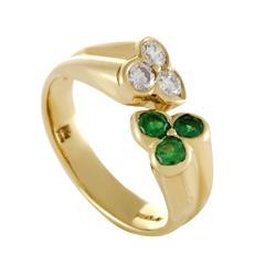 Kutchinsky Emerald Yellow Diamond gold Band Ring