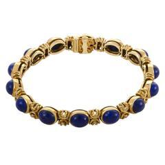 Van Cleef & Arpels Lapis Lazuli Yellow Gold Bracelet