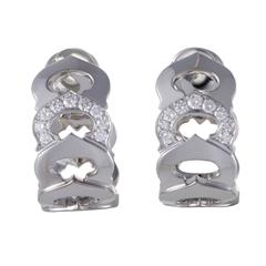 Cartier C de Cartier Diamond White Gold Clip-On Earrings