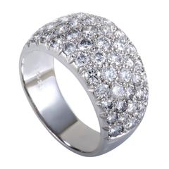 Van Cleef & Arpels Diamond Pave White Gold Wedding Band Ring
