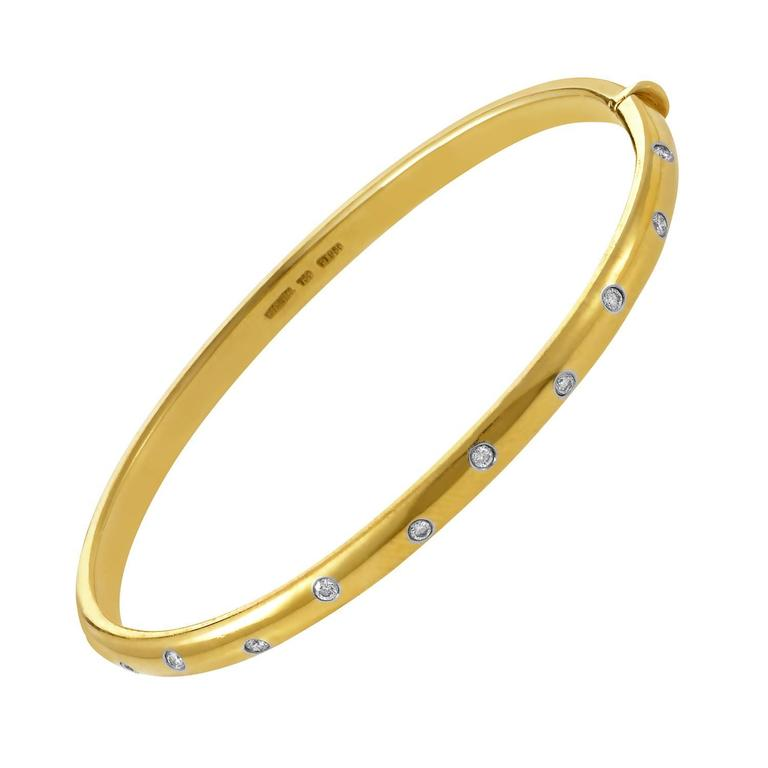 Tiffany & Co. Etoile Ten Diamond Yellow Gold and Platinum Bracelet