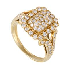 Cartier Diamond Pave Yellow Gold Ring