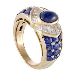 Piaget Women's Sapphire Diamond Yellow Gold Band Ring