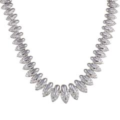 Diamond Pave Platinum Choker Necklace
