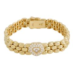 Chopard Happy Diamonds Yellow Gold Floating Diamond Bracelet