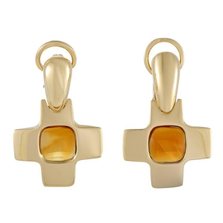 Pomellato Citrine Yellow Gold Clip-On Earrings