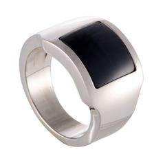 Cartier Santos Onyx White Gold Band Ring