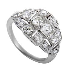 Diamond Three Row Platinum Ring