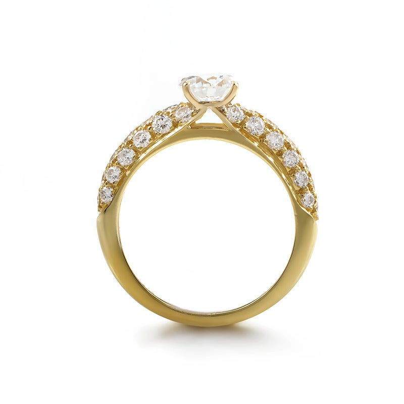 van cleef and arpels diamond gold engagement ring at 1stdibs With van cleef wedding ring