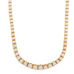 Diamond Strand and Yellow Gold Tennis Necklace
