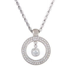 Roberto Coin Diamond and White Gold Pendant Necklace