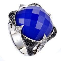 Stephen Webster Crystal Haze Diamond Lapis and Quartz White Gold Ring