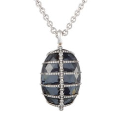 Stephen Webster Jewels Verne Diamond and Gemstone White Gold Pendant Necklace