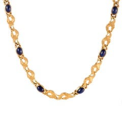 Carrera y Carrera Ecuestre Sapphire and Yellow Gold Collar Necklace