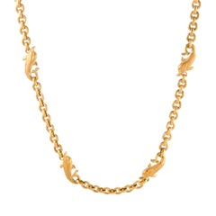 Carrera y Carrera Yellow Gold Dolphin Chain Necklace