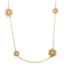 Carrera y Carrera Sol y Sombra Diamond and Gold Sautoir Necklace