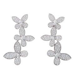 Graff Diamond Butterfly Drop Earrings