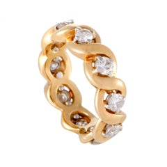 Oscar Heyman Diamond and Yellow Gold Eternity Band Ring
