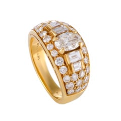Bulgari Diamond and Yellow Gold Band Ring