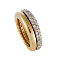 Cartier Diamond Yellow and White Gold Detachable Band Ring