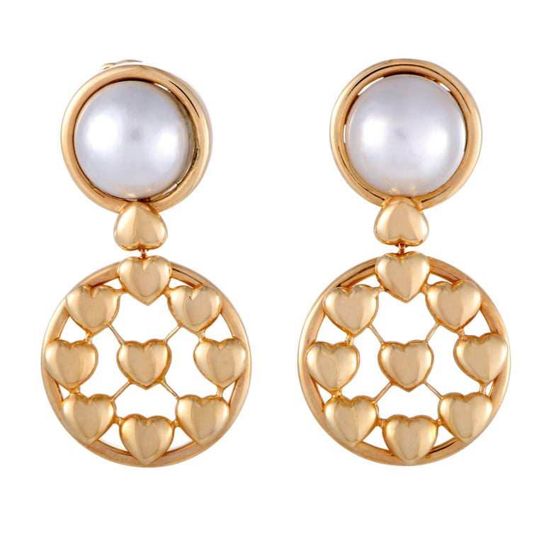 Dior Mabe Pearl Yellow Gold Clip-on Earrings
