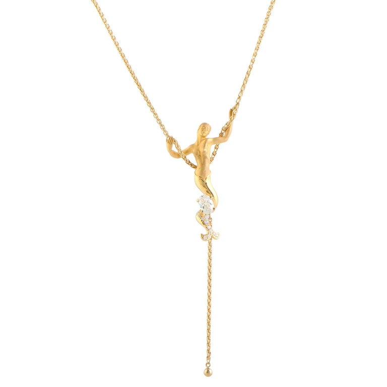 Carrera y carrera diamond yellow gold mermaid pendant necklace at carrera y carrera diamond yellow gold mermaid pendant necklace for sale aloadofball Gallery