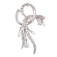 Full Diamond Pave Platinum Brooch/Pendant