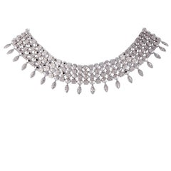 Bulgari Lucea Diamond Four-Row White Gold Collar Necklace