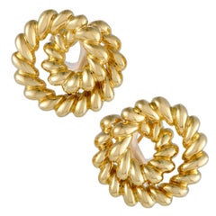 Tiffany & Co. Yellow Gold Cable Swirl Earrings