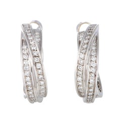 Cartier Diamond White Gold Trinity Earrings