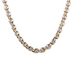 Bulgari Men's Yellow and White Gold Chain Necklace